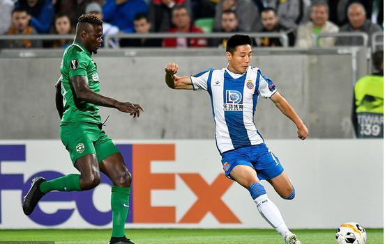 欧联杯 国产选手吴磊今天首发 西班牙人1-0击败保加利亚球队卢多戈雷茨