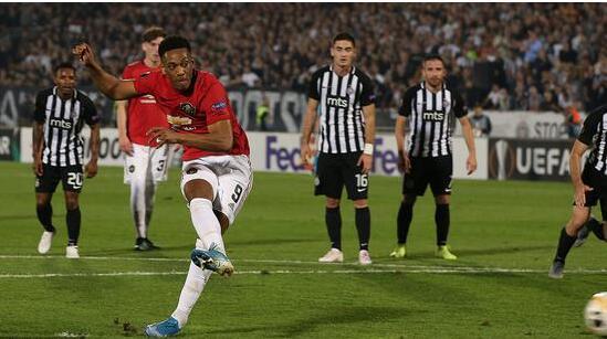 欧联杯  曼联1-0击败贝尔格莱德游击 总算终结了长达11场的客场不胜记录