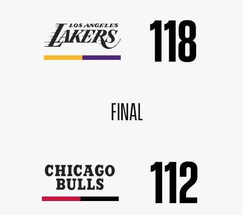 11月06日NBA常规赛 湖人vs公牛 全场录像