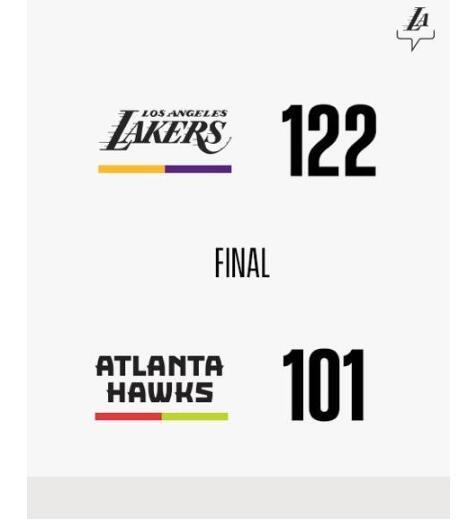 11月18日NBA常规赛 老鹰vs湖人 录像