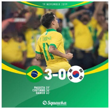 11月20日 足球友谊赛 巴西vs韩国 全场录像