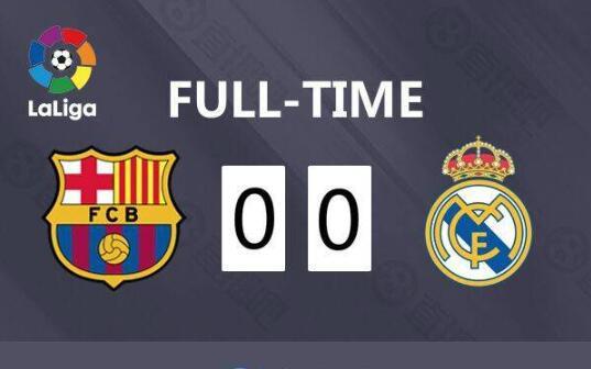 巴塞罗那vs皇家马德里全场集锦  巴萨0-0皇马仍领跑积分榜